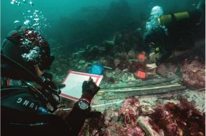 Le territoire sous-marin de la France est le deuxième plus grand du  monde. Photo  : Teddy Seguin/DRASSM.