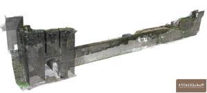 Remparts de Guérande. Nuage de points photogrammétrique. © Archeodunum SAS.